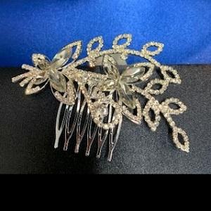 diamante hair comb 243