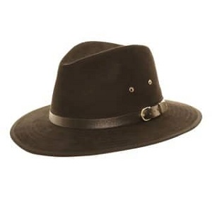A1024 Faux Suede Fedora