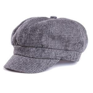 A1448 check bakerboy cap