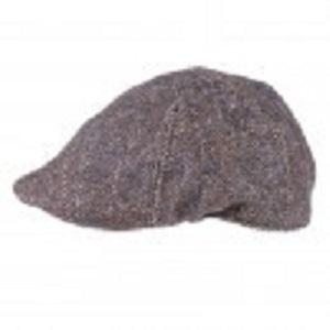 navy flat peak cap