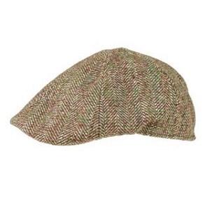 Olive flat peak cap