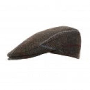 blue tweed flat cap