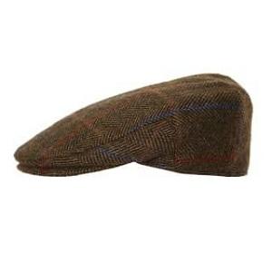 AE37 brown tweed flat cap
